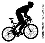 bicyclist | Shutterstock .eps vector #424626643