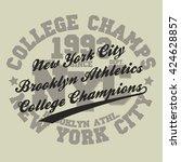 new york brooklyn sport wear... | Shutterstock .eps vector #424628857