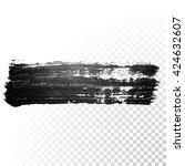 vector black paint smear stroke ... | Shutterstock .eps vector #424632607