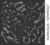 vector hand drawn chalk arrow... | Shutterstock .eps vector #424640317
