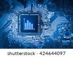 business e commerce icon on... | Shutterstock . vector #424644097