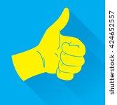vector illustration of thumb up ... | Shutterstock .eps vector #424652557