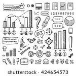 business doodle set. vector... | Shutterstock .eps vector #424654573