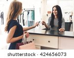 can i pay with my card ... | Shutterstock . vector #424656073