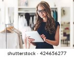 starting new business.... | Shutterstock . vector #424656277