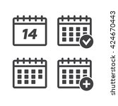 calendar icons set vector...