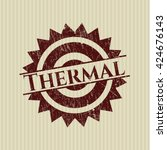 thermal rubber grunge stamp | Shutterstock .eps vector #424676143