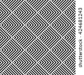 pattern stripe seamless black... | Shutterstock .eps vector #424681243