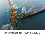 Intha Fishermen Working In The...