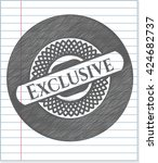 exclusive drawn in pencil | Shutterstock .eps vector #424682737