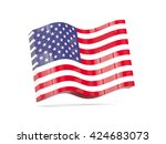 wave icon with flag of united... | Shutterstock . vector #424683073
