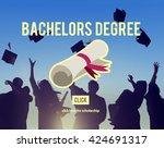 bachelors degree success... | Shutterstock . vector #424691317