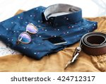 men's casual outfits background ... | Shutterstock . vector #424712317