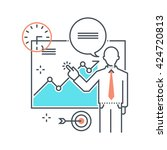color line  seminar illustration | Shutterstock .eps vector #424720813