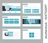 blue multipurpose presentation... | Shutterstock .eps vector #424752097