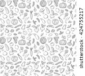 seamless pattern with... | Shutterstock .eps vector #424755217