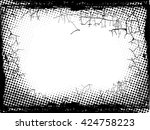 black and white distress... | Shutterstock .eps vector #424758223