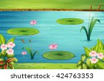 Scene With Lotus In The Pond...