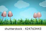 Scene With Mushroom In The...