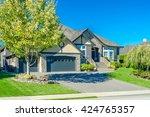 custom built luxury house ... | Shutterstock . vector #424765357