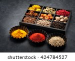 spices  spicy  seasonings  in...   Shutterstock . vector #424784527