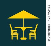 chair icon | Shutterstock . vector #424792483