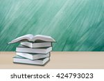 education concept open book... | Shutterstock . vector #424793023