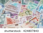 banknotes scattered on a table | Shutterstock . vector #424807843