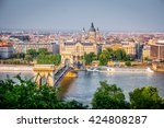 beautiful view on budapest and... | Shutterstock . vector #424808287