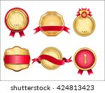 royal  realistic  vector badges ... | Shutterstock .eps vector #424813423