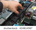 computer technician installing... | Shutterstock . vector #424814587