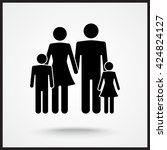 family sign icon  vector... | Shutterstock .eps vector #424824127