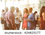 diversity people party brunch... | Shutterstock . vector #424825177