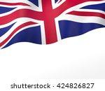 3d illustration of uk flag | Shutterstock . vector #424826827