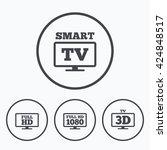 smart tv mode icon. widescreen... | Shutterstock .eps vector #424848517