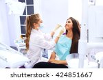 overview of dental caries...   Shutterstock . vector #424851667