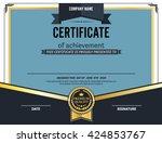 blue gold certificate template