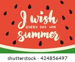 summer card with hand drawn... | Shutterstock .eps vector #424856497