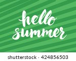 summer card with hand drawn... | Shutterstock .eps vector #424856503