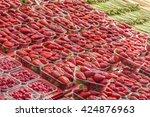 strawberries. delicious... | Shutterstock . vector #424876963