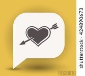 pictograph of heart with arrow | Shutterstock .eps vector #424890673