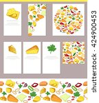 food templates with sorts of... | Shutterstock .eps vector #424900453