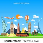 travel to world.  | Shutterstock . vector #424911463