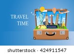 travel and vacations concept | Shutterstock . vector #424911547