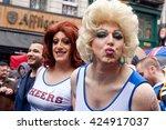 brussels  belgium   may 16 ... | Shutterstock . vector #424917037