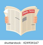 newspaper. daily news. vector... | Shutterstock .eps vector #424934167