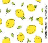 nice lemon background. vector... | Shutterstock .eps vector #424936957