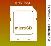 sign microsd vector icon | Shutterstock .eps vector #424960753