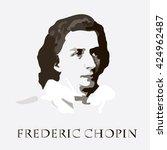 composer chopin. vector portrait   Shutterstock .eps vector #424962487