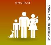 family vector icon | Shutterstock .eps vector #424970827